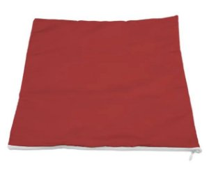 Capa de almofada 45x45 vermelha/branca