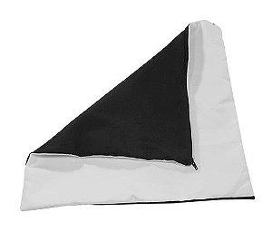 Capa de almofada 35x35 preta/branca