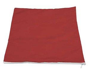 Capa de almofada 35x35 Vermelha/branca