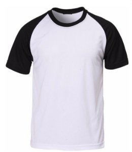 Camiseta Raglan Branca - Manga Preta EXG