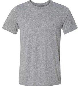 Camiseta de poliéster adulto cinza GG
