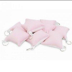 Almochaveiro 7x7 rosa pacote com 5un