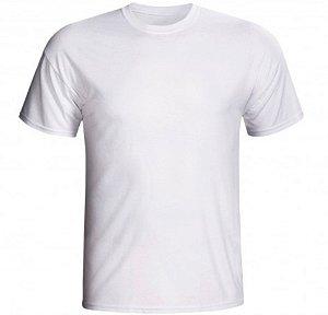 Camiseta poliéster branca adulto M