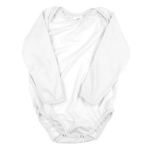 Body de ribana manga longa branco GG