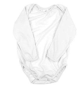Body de ribana manga longa branco M