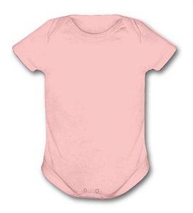 Body de ribana manga curta rosa G