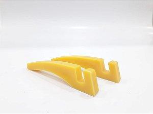 Suporte p/ azulejo de plástico amarelo