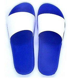 Chinelo slide azul royal 34/35