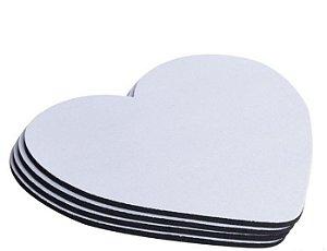 Mouse Pad - LATEX coração 21x23 3mm