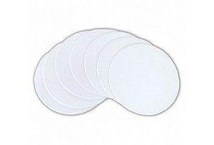 Porta copo/bolacha de chopp de papelão com tecido para sublimação