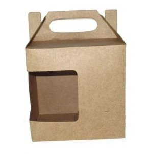 caixa para caneca Krafit com visor 10un