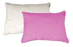 Capa de almofada 20x30 rosa bebê/branca