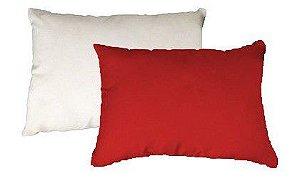 Capa de almofada 20x30 vermelha/branca