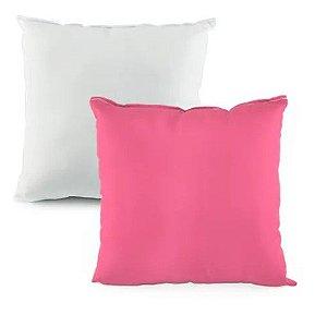 Capa de almofada 35x35 rosa bebê/branco