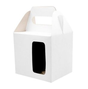 Caixa para caneca com visor branca 12un