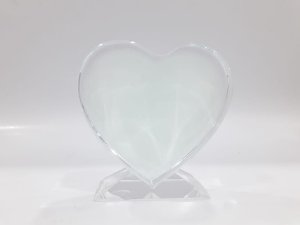Porta retrato de vidro para sublimação em coração