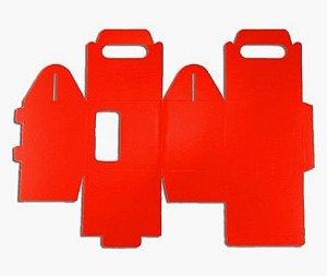 Caixa para caneca com visor vermelha 12un