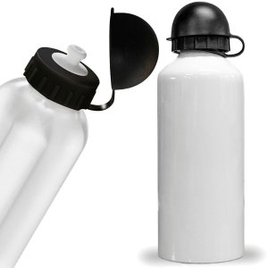 Squeeze alumínio branco 600ml tampa bola