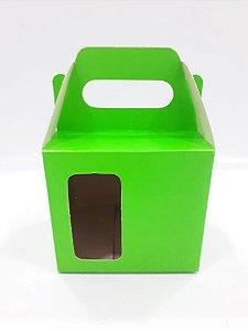 Caixa para caneca com visor verde 12un