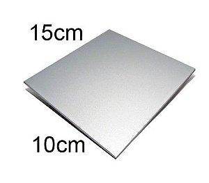 Placa de Metal 10x15 Prata