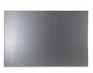 Placa de Metal 20x30 Cinza A4