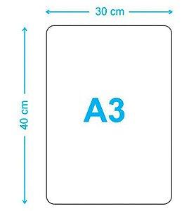 Placa 30x40 A3 - MDF 6mm