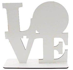 Porta retrato love em MDF