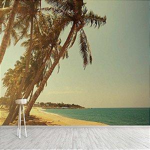 Papel de Parede Vinílico Lavável Foto Mural Praia  - REF : 1234820618