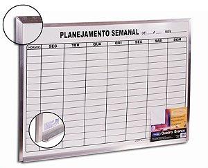 Quadro Branco 60x90 Planejamento Semanal