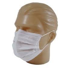 Máscara Tripla TNT Branca - Pacote C/ 50 Unidades