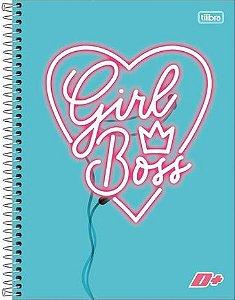 Caderno Capa Dura 10 Matérias D+ 200 Folhas Feminino
