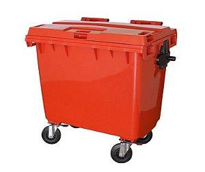 Carrinho Coletor de Lixo Container com Pedal 660L