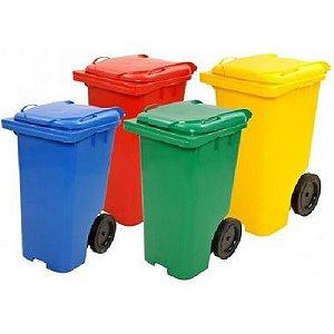 Carrinho Lixeira Coletor de Lixo sem Pedal 120L