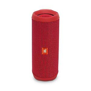 Caixa de Som Bluetooth JBL Flip 4 16W RMS À Prova D'água Vermelho