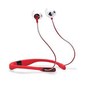 Fone de Ouvido Esportivo JBL Reflect Fit Bluetooth Monitoramento Cardíaco Vermelho