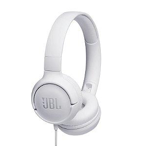 Fone de Ouvido JBL T500 Headphone On-Ear Microfone Branco