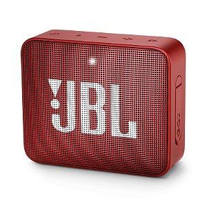 Caixa de Som Bluetooth JBL Go 2 À Prova D'água Vermelho
