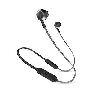 Fone de Ouvido Intra Auricular JBL T205BT In-Ear Bluetooth Microfone Preto