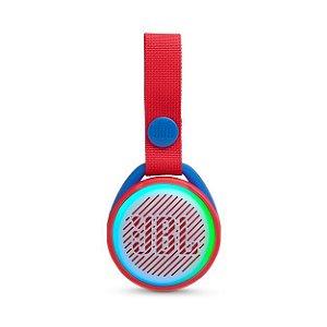 Caixa de Som Bluetooth JBL JR Pop 3W RMS À Prova D'água Vermelha