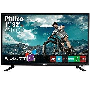 "Smart TV Android LED 32"" Philco PTV32N87SA HDMI USB Wi-Fi Intregado"
