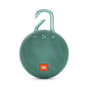 Caixa de Som Bluetooth JBL Clip 3 À Prova D'água Verde Água