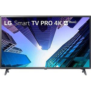 "Smart TV LED ThinQ AI 49"" LG 49UM731C Ultra HD 4K HDMI USB Wi-Fi Integrado"