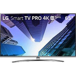 "Smart TV LED ThinQ AI 65"" LG 65UM761C Ultra HD 4K HDMI USB Wi-Fi Integrado"