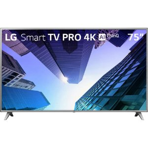 "Smart TV LED ThinQ AI 75"" LG 75UM751C Ultra HD 4K HDMI USB Wi-Fi Integrado"