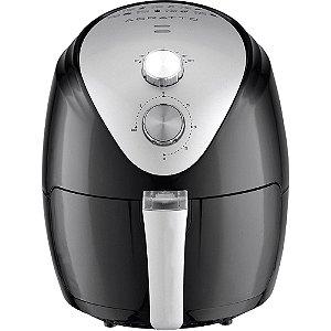 Fritadeira Elétrica Sem Óleo Agratto Fryer Silver AFS-01 1270W Preta 127V