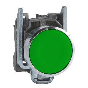 Botão 22mm Metálico A Impulsão 1NA Verde - XB4BA31 Schneider Electric