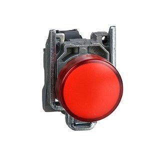 Botão 22Mm Metálico A Impulsão 1NF Vermelho - XB4BA42 Schneider Electric