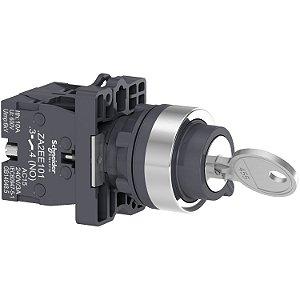 Comutador 22mm Plástico Chave 2 Posições Fixas Retira Esquerda e DIireita 2NA - XA2EG43 Schneider Electric