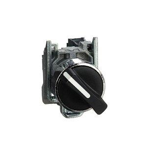 Comutador 22mm Metálico Manopla Curta 2 Posições Fixas 1NA - XB4BD21 Schneider Electric