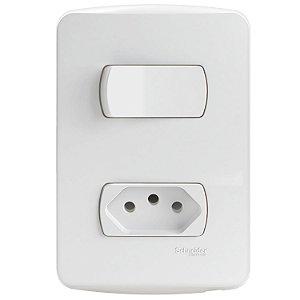 Conjunto 1 Interruptor Paralelo + 1 Tomada 2P+T 10A 250V PL/BR - S3B69040 Schneider Electric